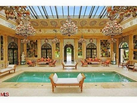 piscinas de luxu interiores e exteriores