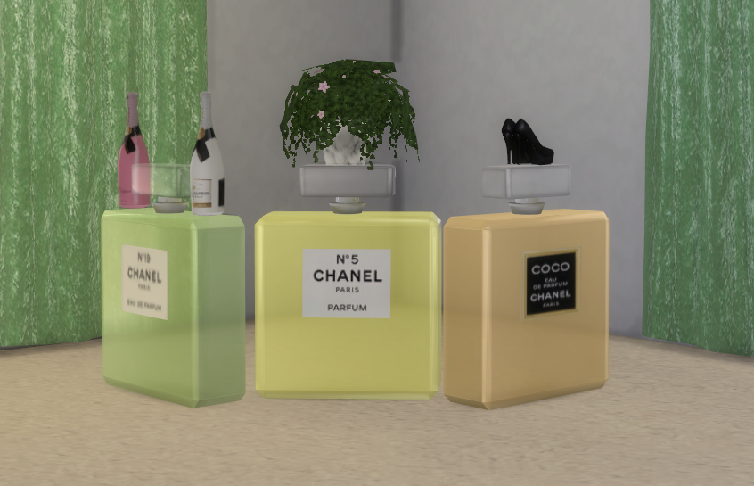 My Sims 4 Blog Decorative Chanel Perfume Bottles By Theshed