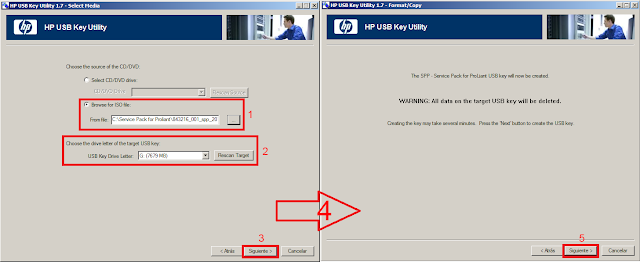 HP USB key seleccionar ISO SPP