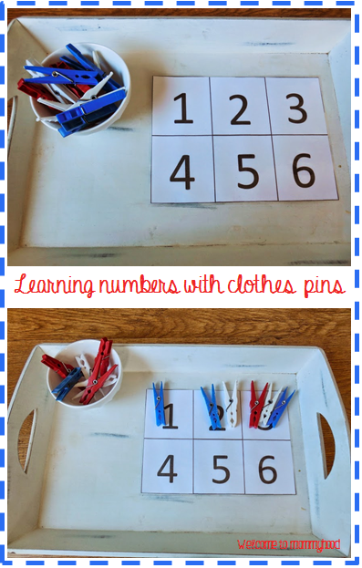 Memorial Day Activities: Montessori inspired math activities by Welcome to Mommyhood