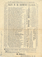 Rev. N. H. Downs' Elixir broadside ad