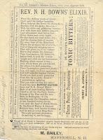 Rev. N. H. Downs' Elixir broadside ad