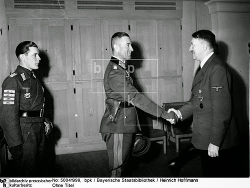 General Lemelsen receives the Knight's Cross at the hand of Adolf Hitler, 27 July 1941 worldwartwo.filminspector.com