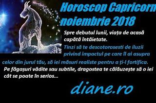Horoscop Capricorn noiembrie 2018
