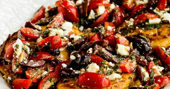 Kalyn S Kitchen 174 Sauteed Greek Chicken With Tomato Olive And Feta Topping
