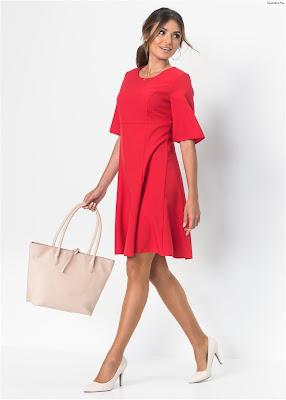 Vestidos rojos cortos de moda