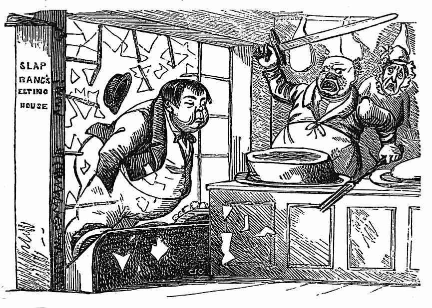 a Robert Cruikshank cartoon about window shopping