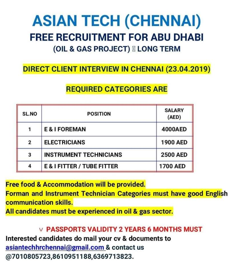 GULF VACANCIES 18-4-2019 – GCC JOBS FOR YOU
