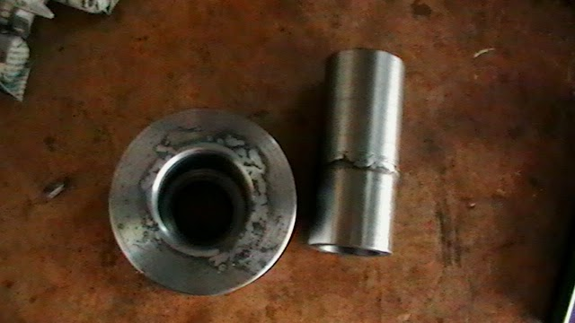 collet cloture pieces after breaking weld