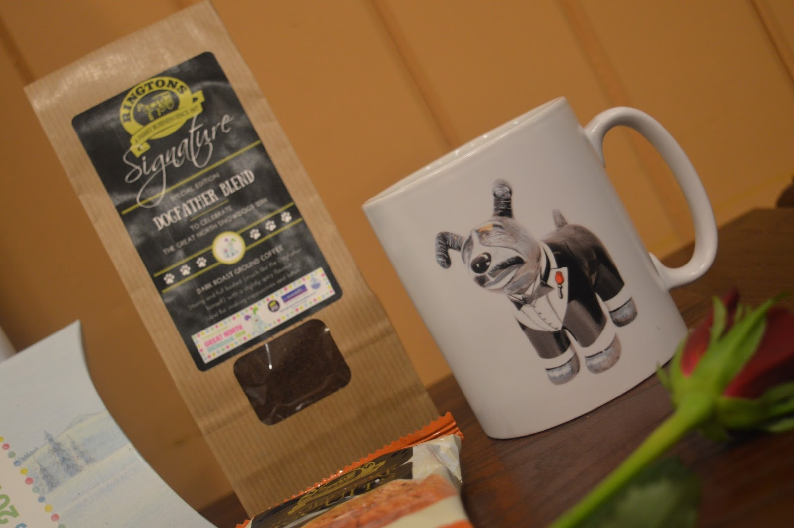 Top tips for hosting a top blogger event - Dogfather mug & Ringtons Goody bag