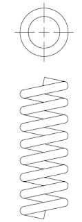 A constant pitch helical compression spring