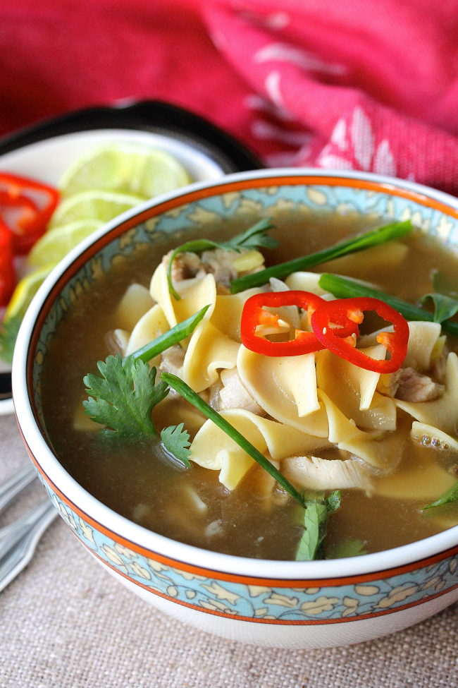 Chinese five spice noodle soup