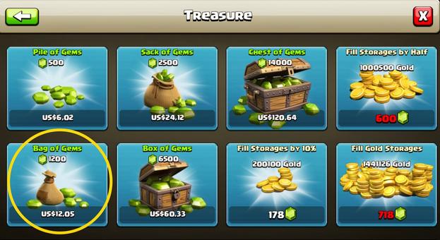 11 langkah mendapatkan 1200 Gems Clash Of Clans Gratis
