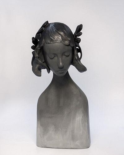 Amy Sol, esculturas chidas, hadas del bosque, rostros mujer