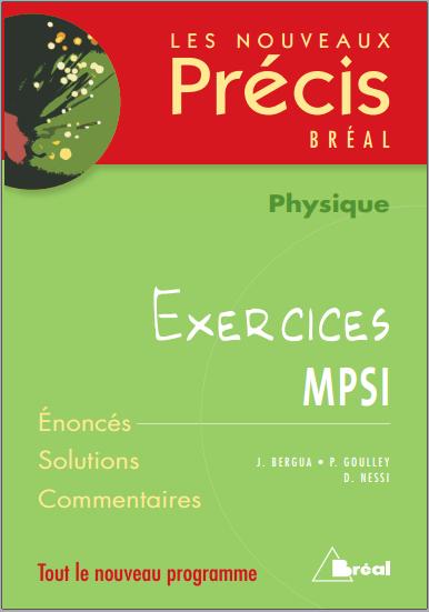 Livre : NOUVEAU PRECIS - Physique MPSI, Exercices PDF