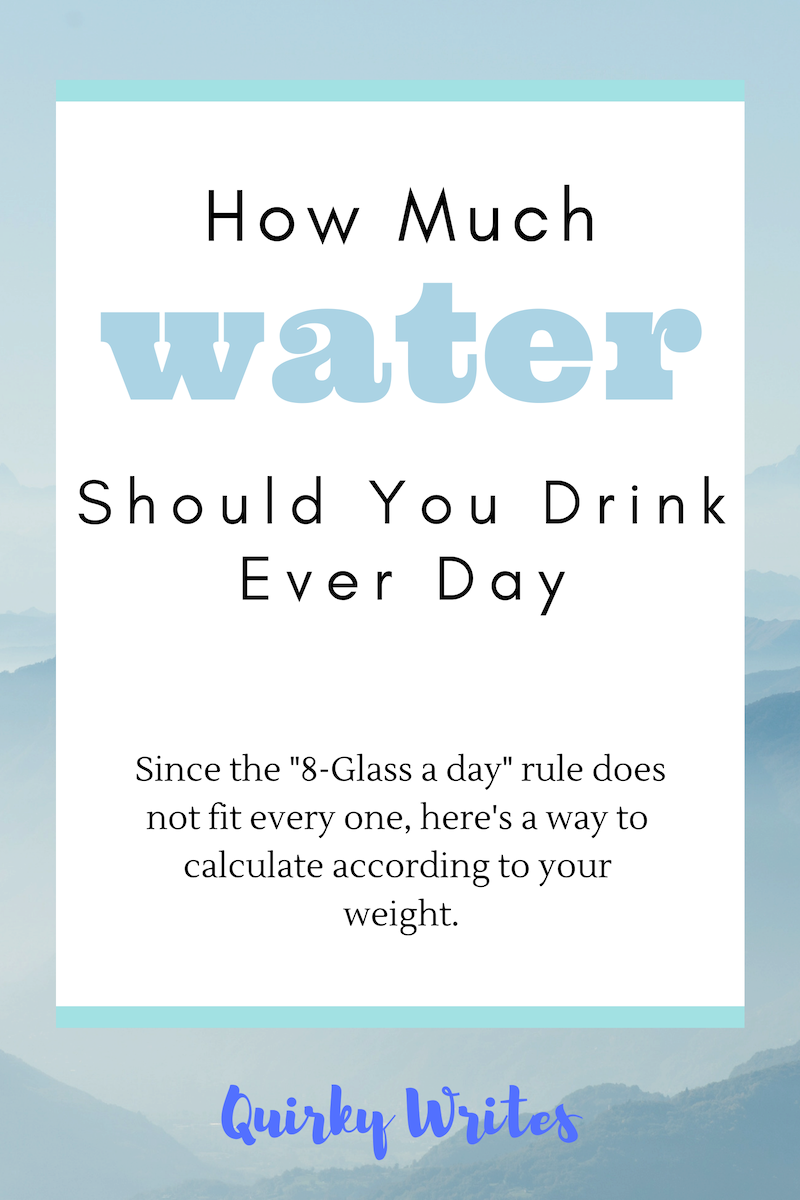 How Much Water Should I Drink A Day Calculator >> How Much Water Should You Drink Every Day Quirky Writes