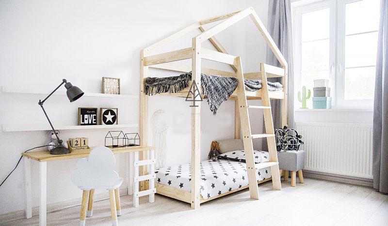 łóżko piętrowe domek dla dzieci