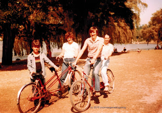 Belair family in Vancouver's Stanley Park in 1981
