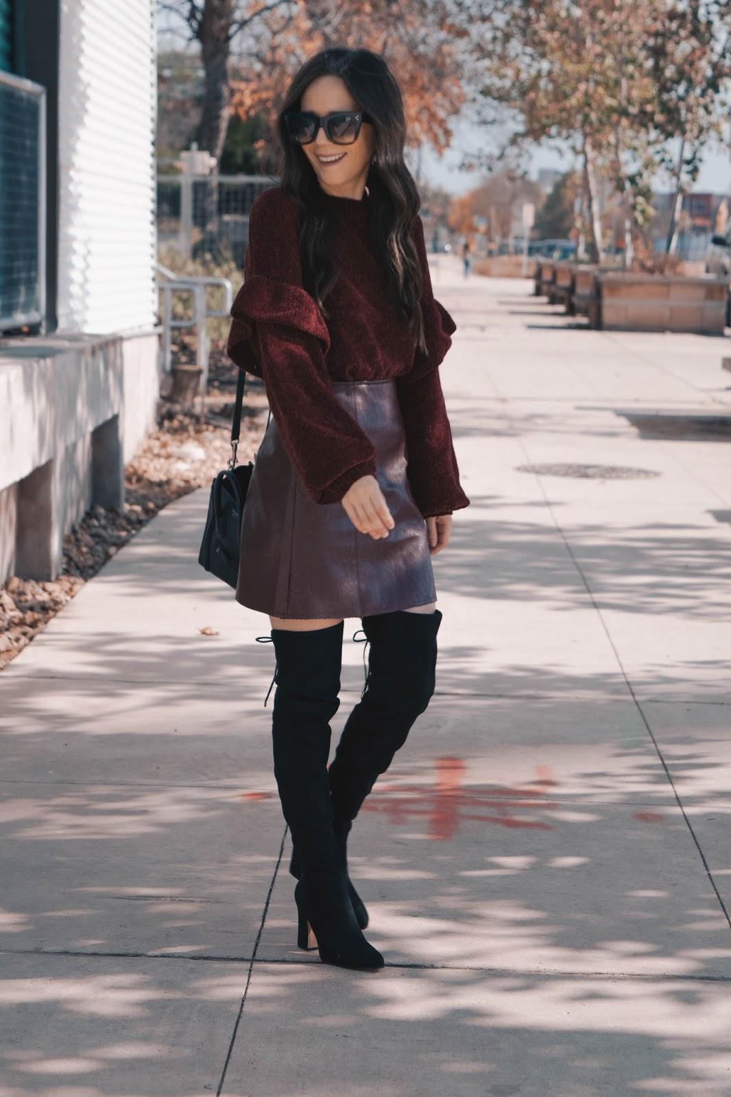 Nordstrom B.P. ruffle sweater
