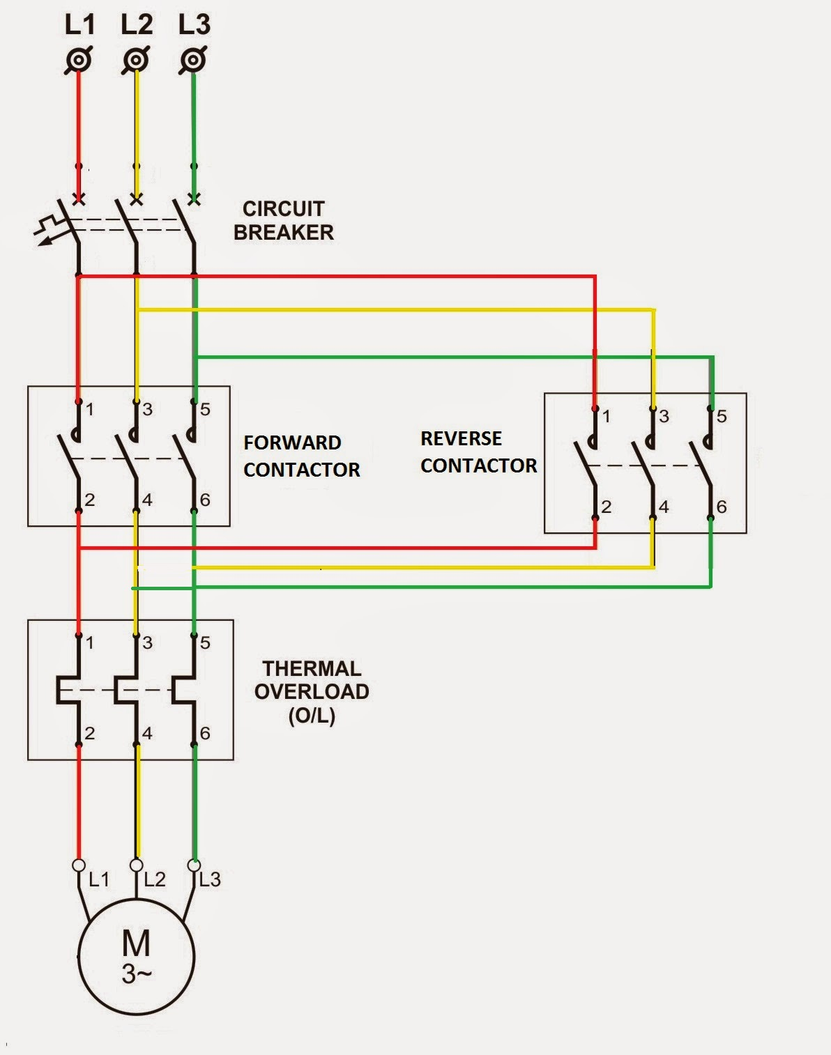 medium resolution of reversing contactor wiring wiring diagram used reversing motor starter wiring diagram motor reversing contactor wiring diagram