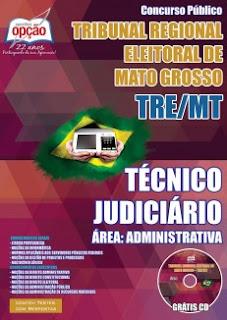 Apostila Concurso TRE MT  Técnico Judiciário, pdf, download gratis cd.