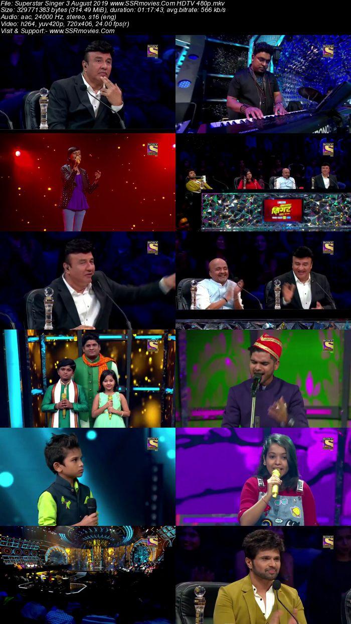 Superstar Singer 3 August 2019 HDTV 480p Full Show Download