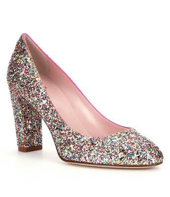 glitter heels from Kate Spade
