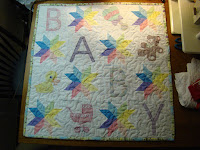 starflower embroidery blocks baby quilt