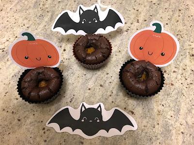 Muffins choco-citrouille, Halloween