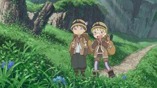 Riko i Natt podczas wyprawy na najwyższych warstwach Otchłani