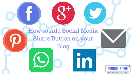 how to add social media share button on blog