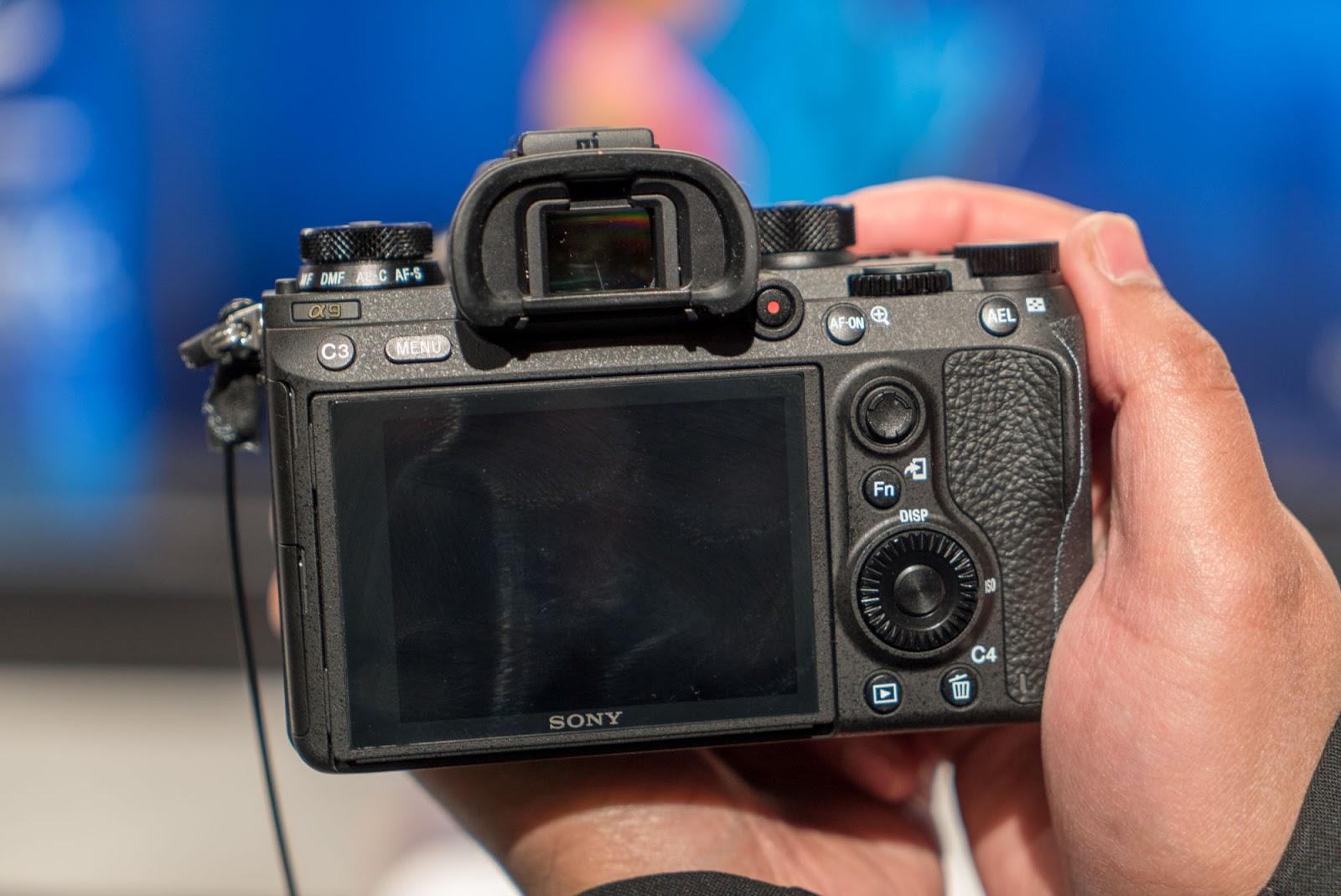 Sony A9, вид сзади