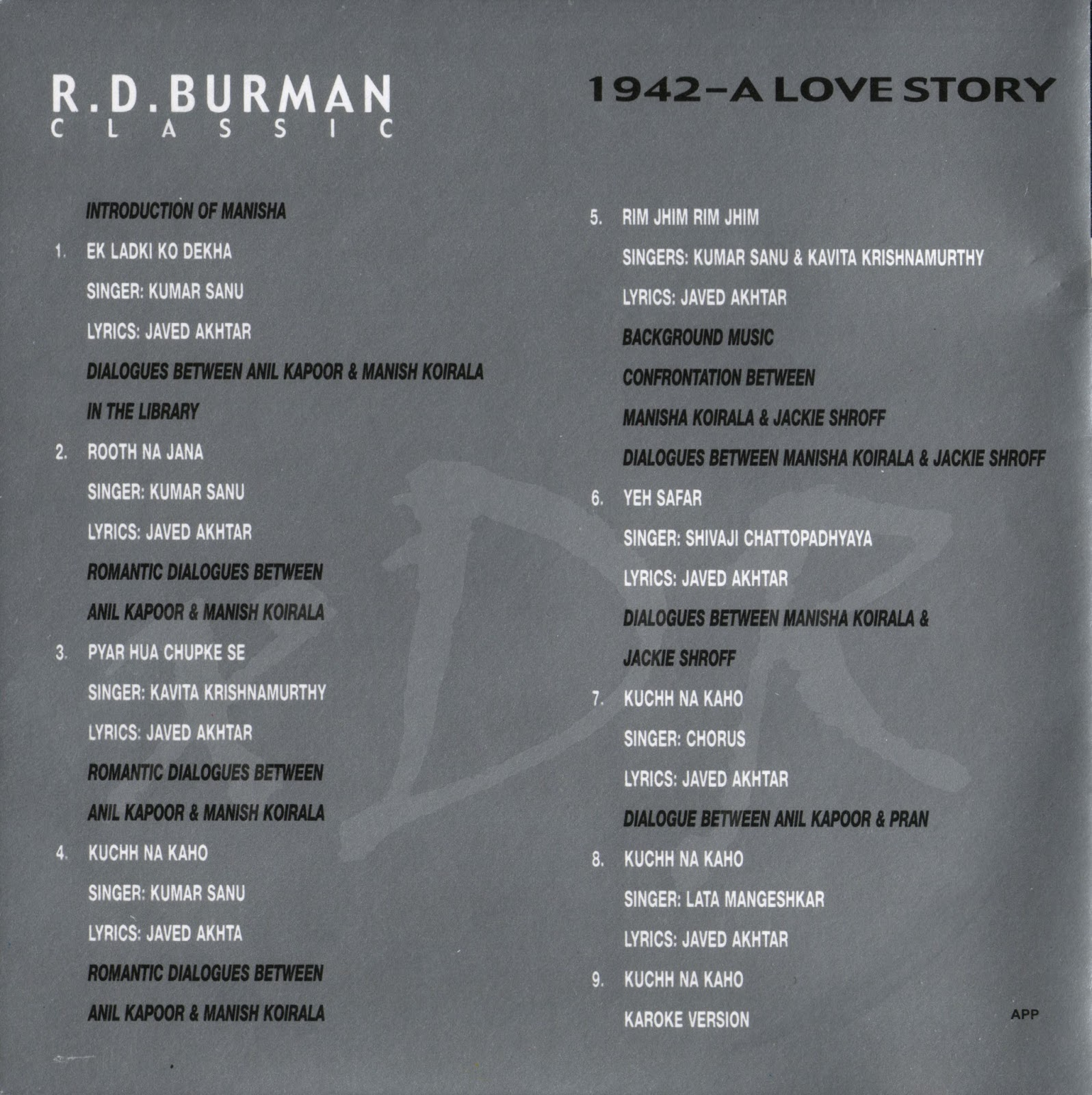 1942 a love story 1994 mp3 vbr 320kbps - Bridge of spies 2015 movie