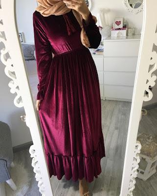 Modèle robe Hijab pour Fiançailles