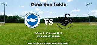 Data dan Fakta Fantasy Premier League GW 28 Brighton vs Swansea Fantasi Manager Indonesia
