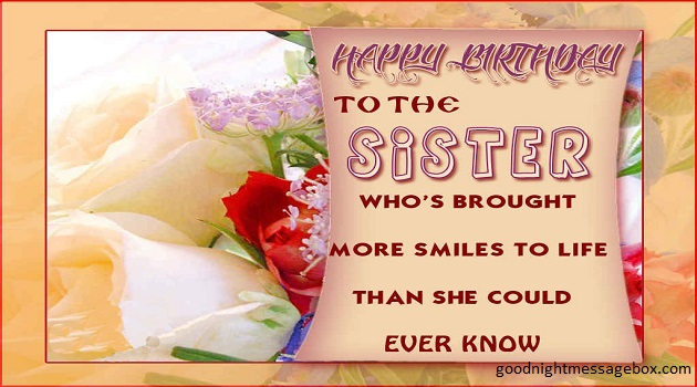 Charming Happy Birthday Quotes For Sister