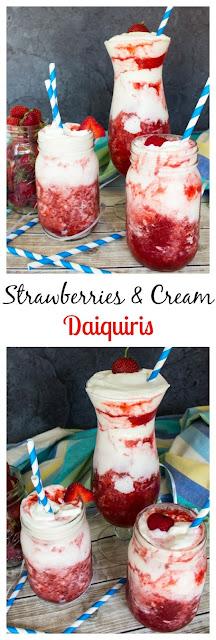 Strawberries & Cream Daiquiris