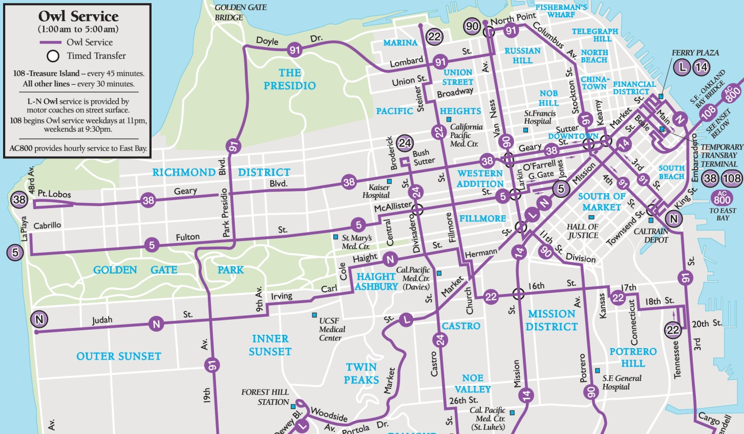sf San Go Bus Routes Map on go train lakeshore east map, france train system map, train route map, mississauga transit route map, subway route map,