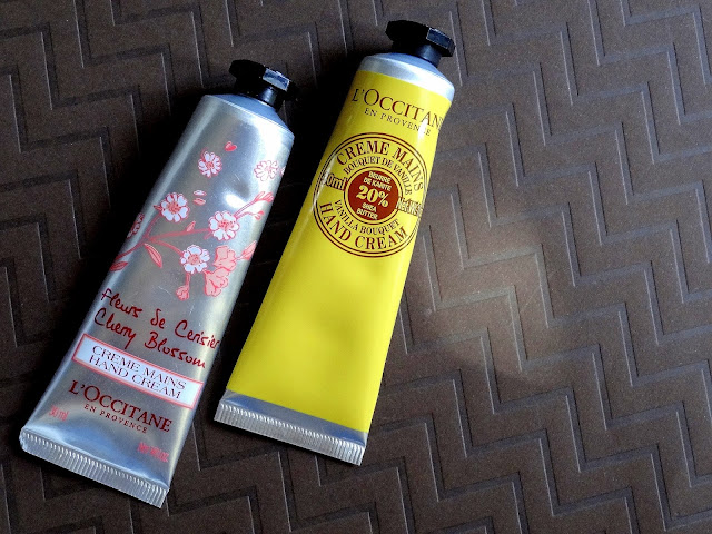 L'Occitane Shea Butter Vanilla Bouquet And Cherry Blossom Hand Creams