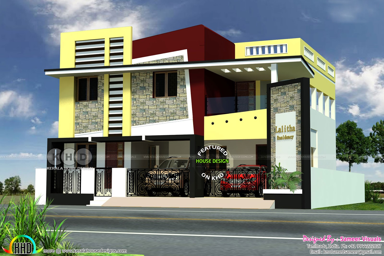 2850 Square Feet Tamilnadu Style Modern House