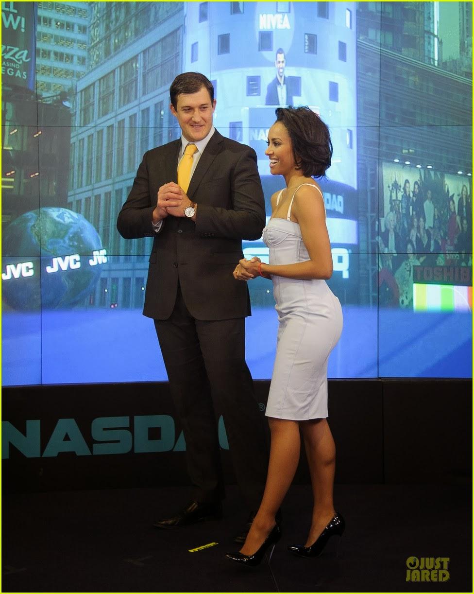 Celeb Diary: Kat Graham & Cottrell Guidry @ NASDAQ ...
