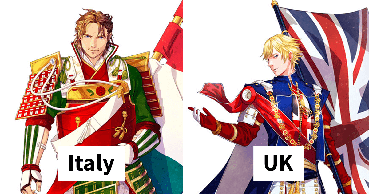 Japanese Artists Reimagined Countries And Their Flags As Anime Characters For 2020 Tokyo Olympics