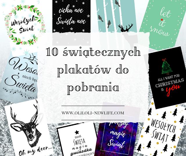 10 świątecznych plakatów do pobrania
