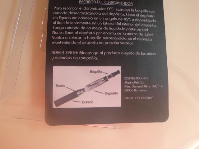instrucciones cigarrillo electronico