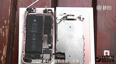 Foto iPhone 7 Meledak Saat Rekam Video