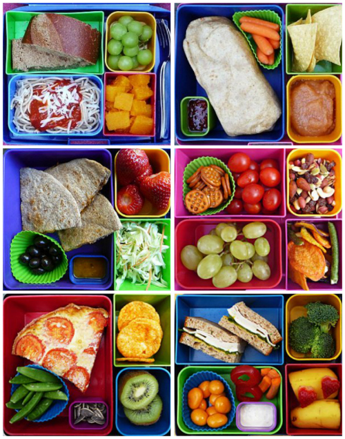 Bento box style lunch ideas