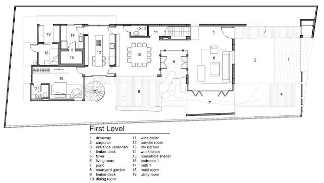 แปลนบ้าน 3 ชั้น ชั้น 1
