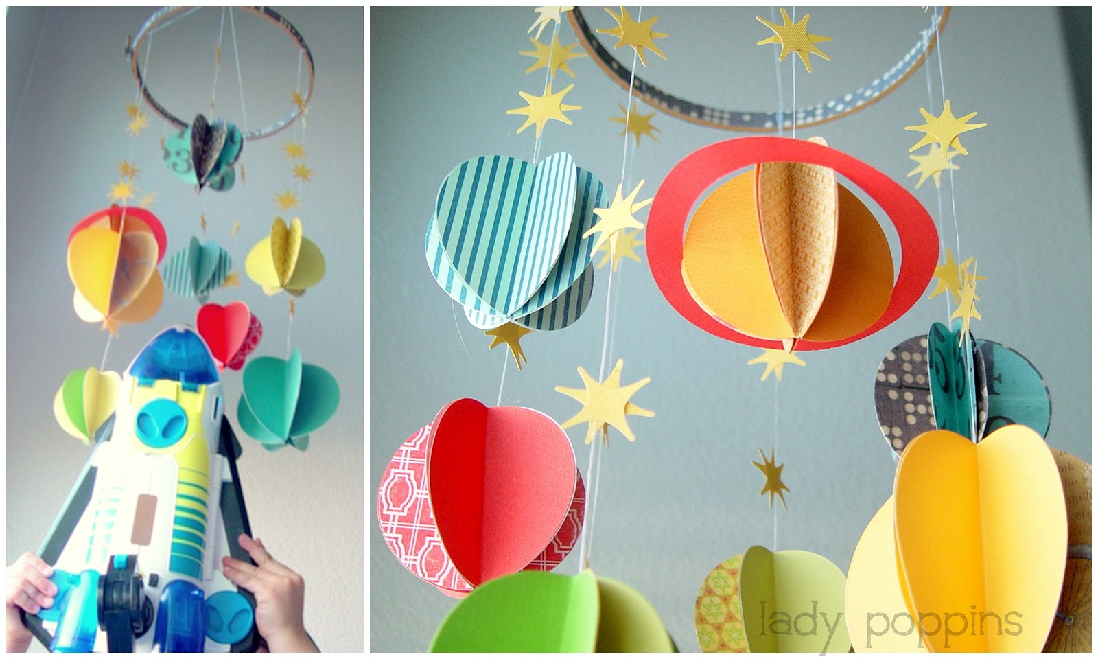 paper solar system mobile - photo #2