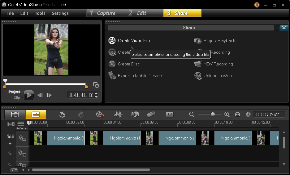 Cara Menyimpan Hasil Project Corel Video Studio 4