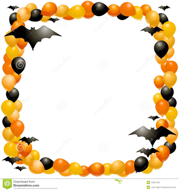 happy halloween frames for greeting cards and windows stickers